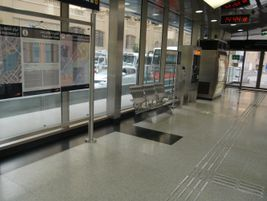 The stations are equipped with contact-less ticketing, touch screen information kiosks and video...