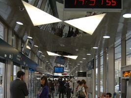 The Dubai line has 11 stations, which are equipped with air-conditioning and platform screen doors.