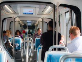Passengers inside the Dubai tram. Photo: Alstom Transport/L.Tissot