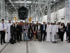 Press group along with RTA officials touring the maintenance facility. Photo: Alstom...
