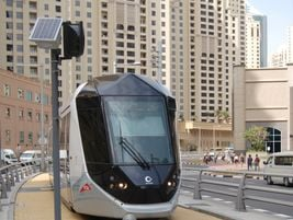 The Dubai tram system in Dubai is the first 100-percent catenary-free tramway in the world. The...