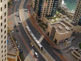 Dubai tram elevated view. Photo: METRO Magazine/J.Starcic