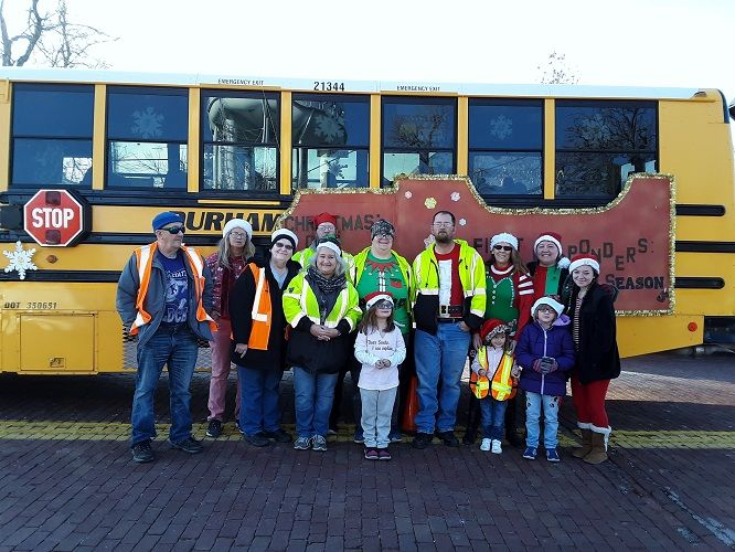 The transportation team at Durham's Hutchinson, Kan., location dressed up one of their school...