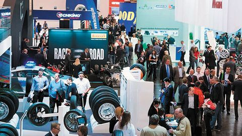 European tire shows are reaching a crisis point! Here we have Germany's Reiffen Essen trade...
