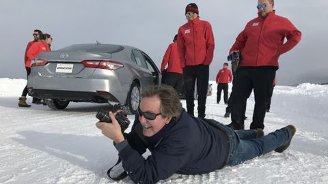 Up close and personal: This was my signature move when I attended a ride-and-drive. I call it...