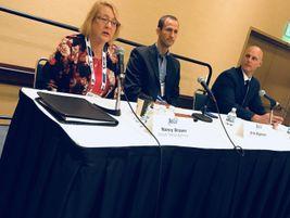 Nancy Brown, Erik Bigelow, and Steven Wilson discussed electric vehicles.