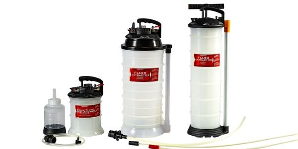 The new JohnDow fluid extractors include five feet of flexible hosing and rigid dip-stick tubes...