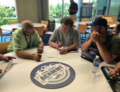 After a day in the classroom, Falken challenged its dealers to a quiz. Greg Rauth and Chuck...