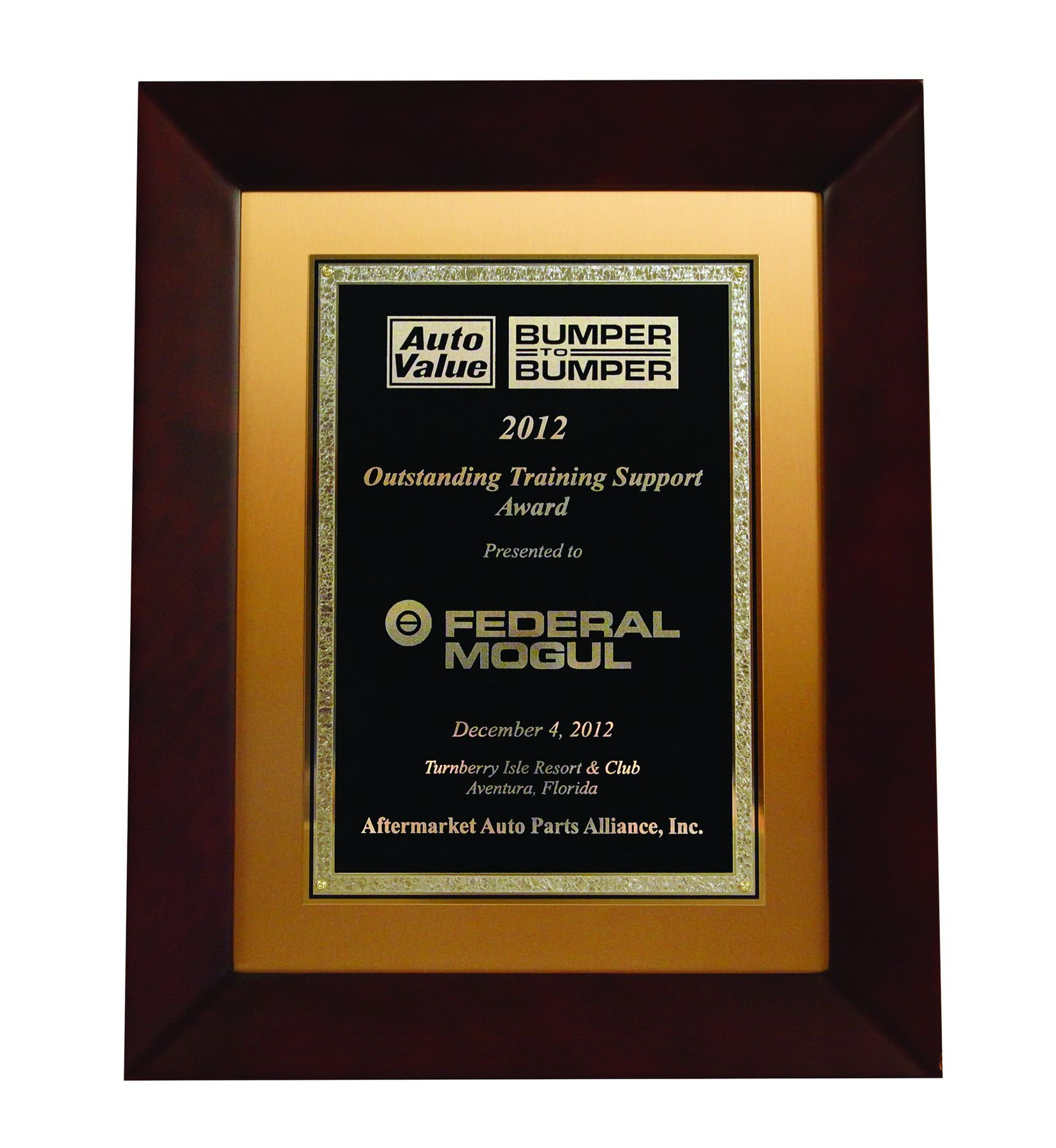 Federal-Mogul recognized for outstanding training