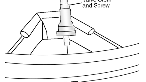 Figure 1: An exploded view of a valve-mounted sensor. Courtesy of Ford Motor Co.