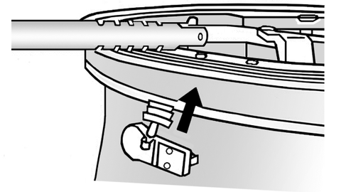 Figure 5: Installation of a snap-in sensor/valve assembly.