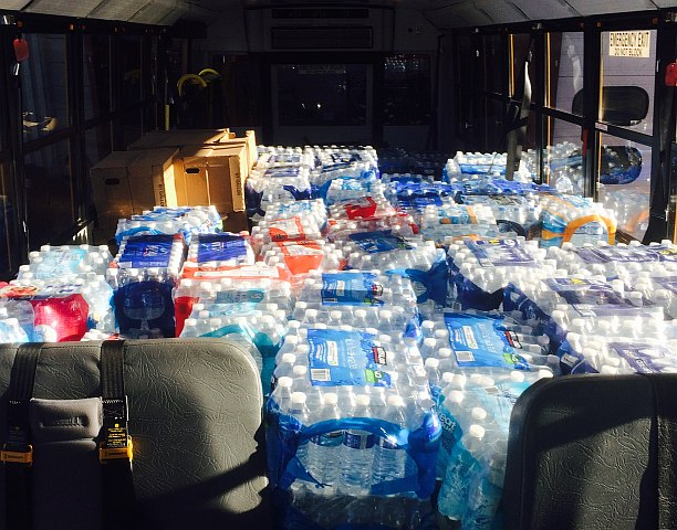 First Student Collects Bottled Water for Flint