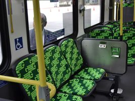 Interior of CCW buses.