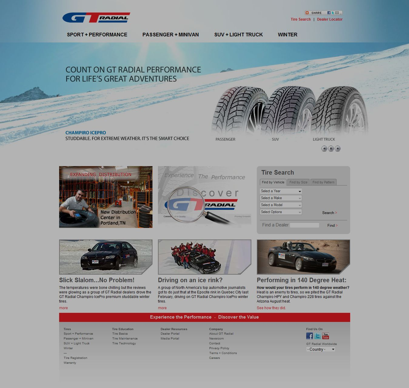 GT Radial website receives upgrades