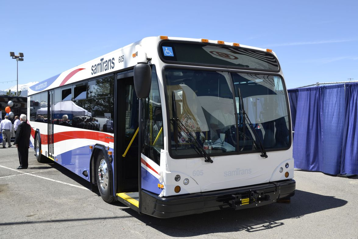 There were plenty of California-based transit agency buses at the Bus Showcase, including this...