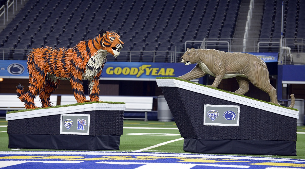 Goodyear Unveils 'Tire Art' for 2019 Cotton Bowl Classic