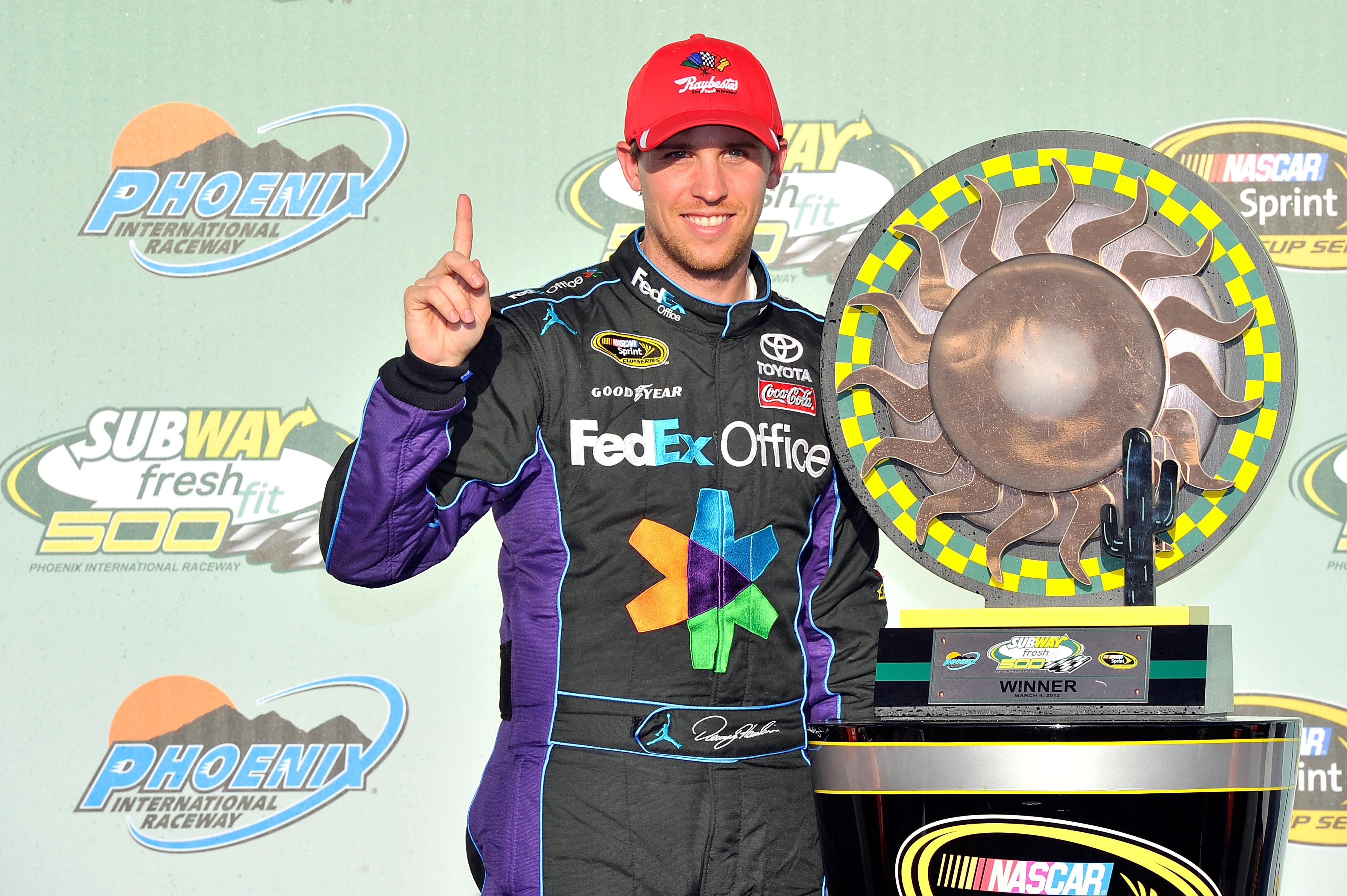 Raybestos brakes help Denny Hamlin secure his first phoenix win