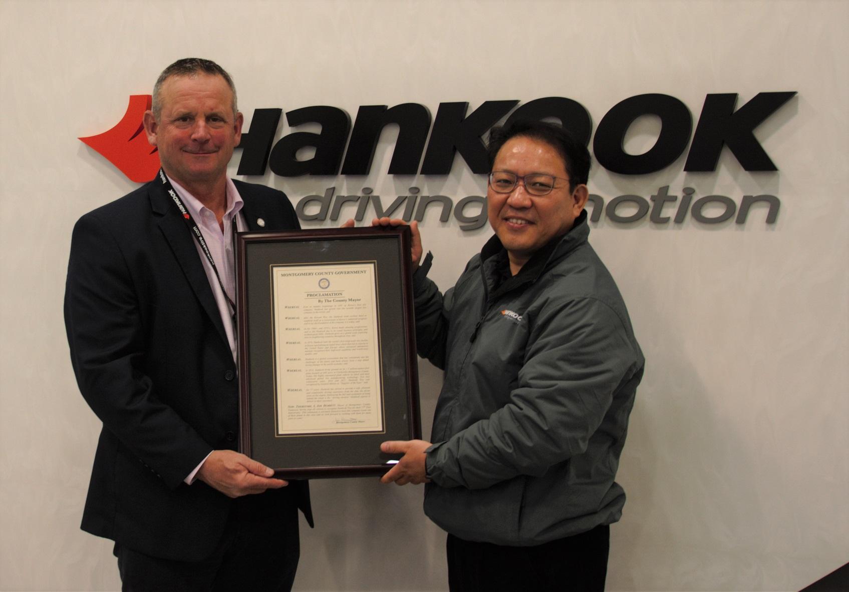Montgomery County Shows Its Appreciation to Hankook