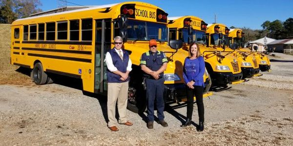 The Harris County (Ga.) School District has received and put into operation four new Blue Bird...