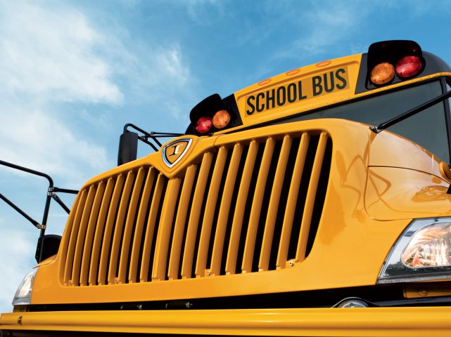 IC Bus Ramps Up Gasoline School Bus Production, Demos Electric Model
