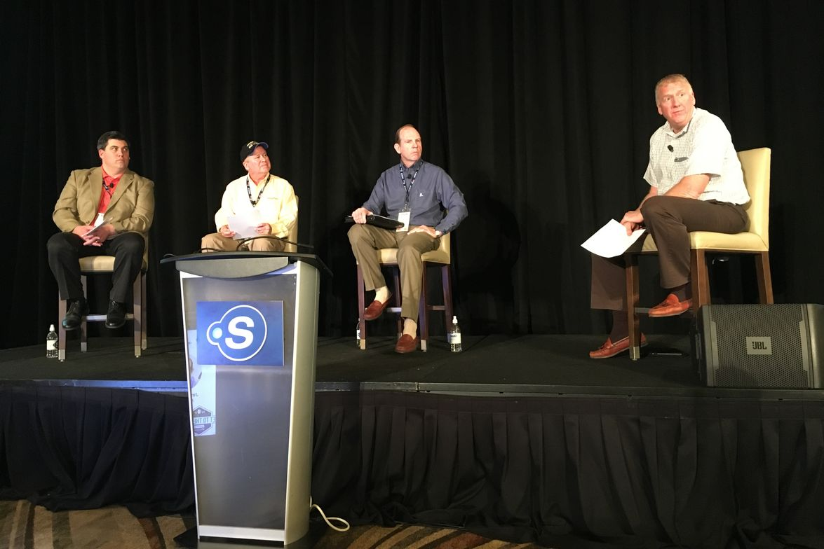 Point S Dealer and outgoing Tire Factory Board Member Craig Bruneel moderated a panel discussion...
