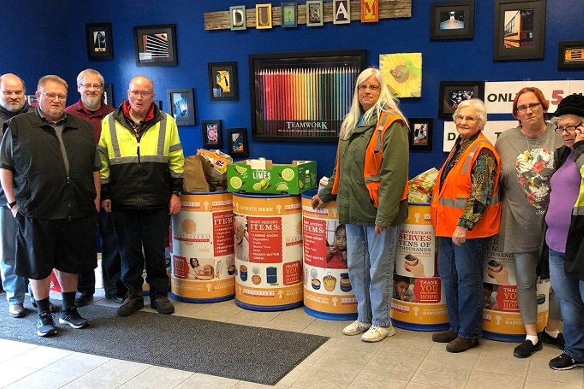 Durham School Services' location in Overland Park, Kan., teamed up with Harvesters, a nonprofit...