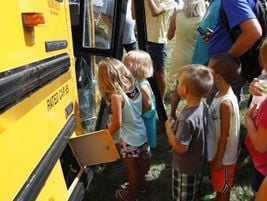 Students from Mitchellville Elementary in the Southeast Polk Community School District, who had...