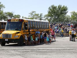 Students from Mitchellville Elementary School in the Southeast Polk Community School District...