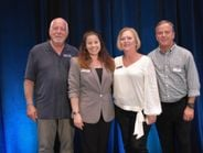 The ITDG staff who were in attendance at the annual meeting were, from left, Dave Marks,...