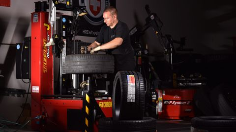 Jack Targaczewski considers himself more of a tire and wheel consultant than a salesman at Ice...
