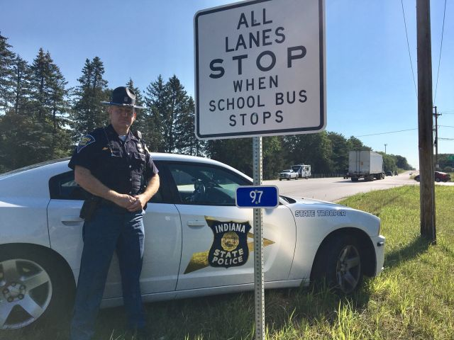 Indiana Trooper Pushes for School Bus Stop Signs