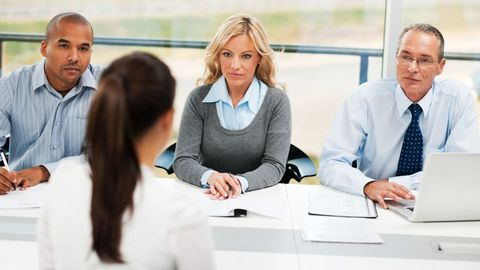 Pre-screening, taking a conversational tone, and picking the right interview team members help...
