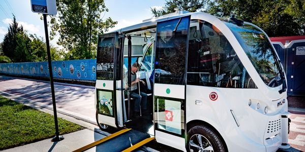 Fla.'s Jacksonville Transportation Authority is testing the first ADA accessible NAVYA...