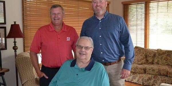 Ziegler Tire's leadership team (from left): John Ziegler Jr., vice president; Bill Ziegler,...