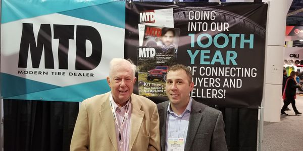 John Healy (on right) met with Saul Ludwig at the Specialty Equipment Market Association (SEMA)...