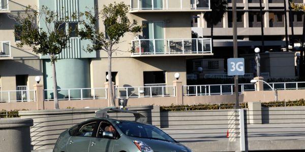 Google driverless car operating on a testing path. Photo by Steve Jurvetson via Wikimedia Commons