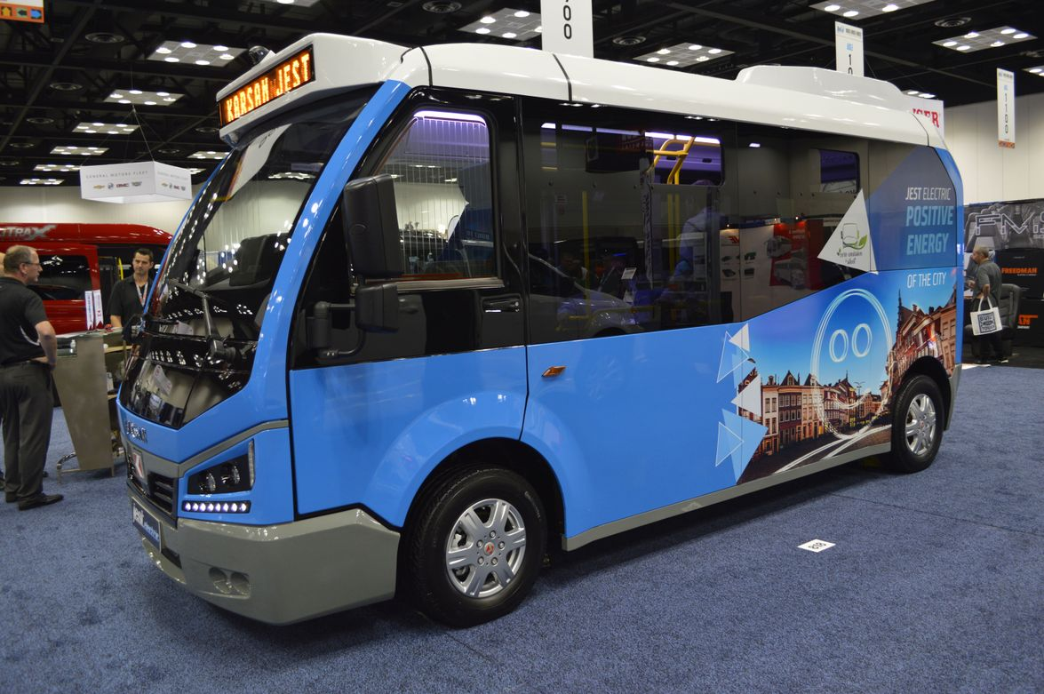 Karsan debuted its Jest electric vehicle to the North American market.