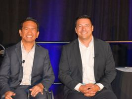 Uber's Head of Global Policy for Public Transportation Chris Pangilinan and Iowa DART's Luis...