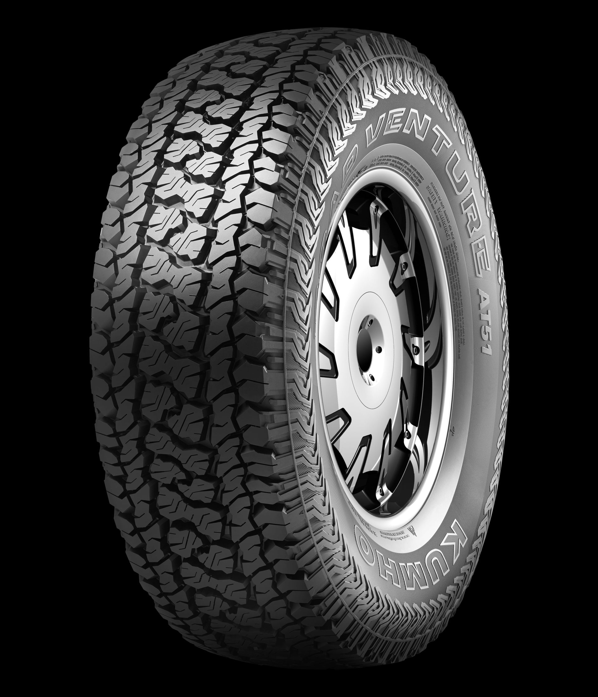 Kumho Road Venture AT51 Is Available in 43 Sizes