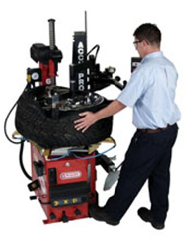 High performance tires and wheels demand high-tech service equipment: Heavier, larger tire/wheel combinations necessitate added features