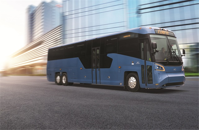 Mci unveils redesigned buses at uma bus metro magazine for Motor coach driving jobs