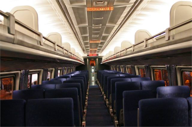 amtrak unveils railcar refurbished with arra funds rail metro magazine. Black Bedroom Furniture Sets. Home Design Ideas