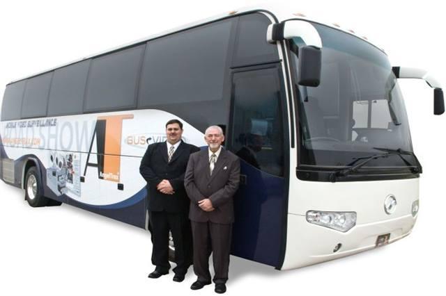angeltrax unveils roadshow bus bus metro magazine
