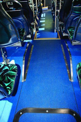 Transit Flooring Stands Up To Foot Traffic Bus Metro