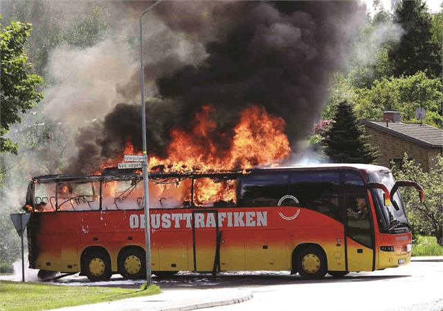 improving fire safety of buses and coaches - bus