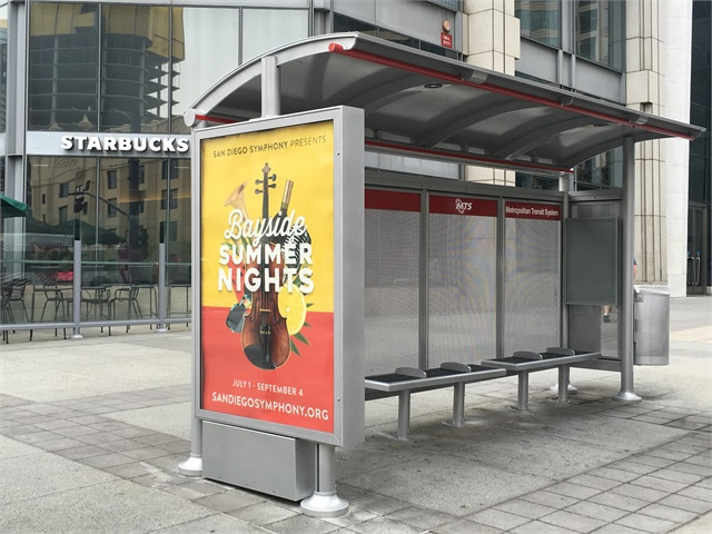 San Diego Mts Installs First Of 600 Bus Shelters Slated