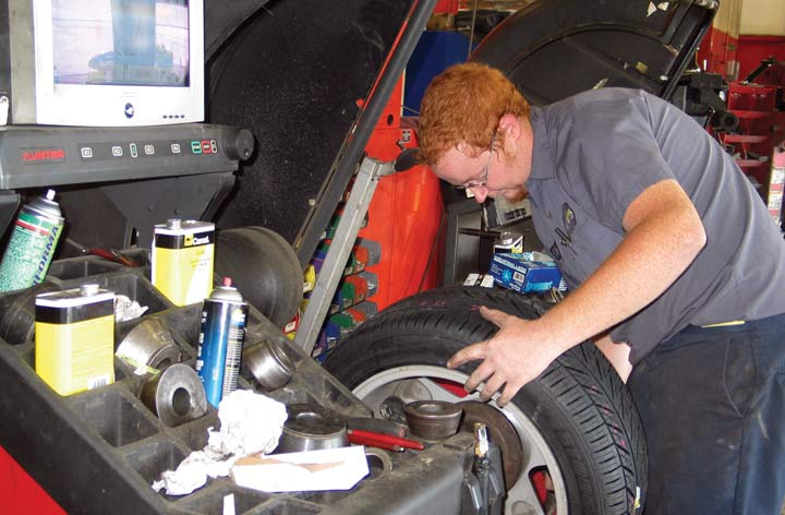 How do you mount and balance tires safely?