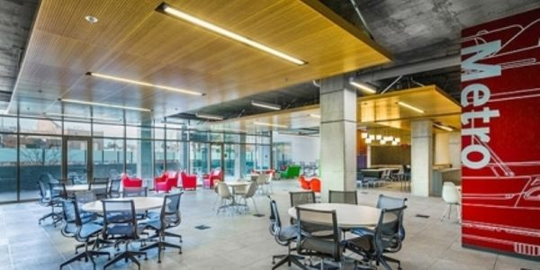 L.A. Metro's new Division 13 Bus Operations & Maintenance facility features vibrant interior...
