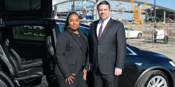 MOTEV chief administrative officer Tiffany Hinton and managing partner Robert Gaskill with a...