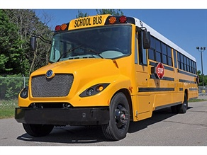 This new Type C school bus, with a body by Lion Bus and a chassis by Spartan Chassis, will be available in the U.S. and Canada.